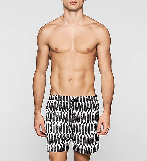 CALVINKLEIN Swim Shorts - Core Novelty - SURFS UP PRINT BLACK - CALVIN KLEIN  - main image