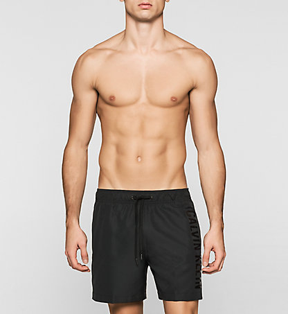 CALVIN KLEIN SWIMWEAR Swim Shorts - Black Embossed KM0KM00120001