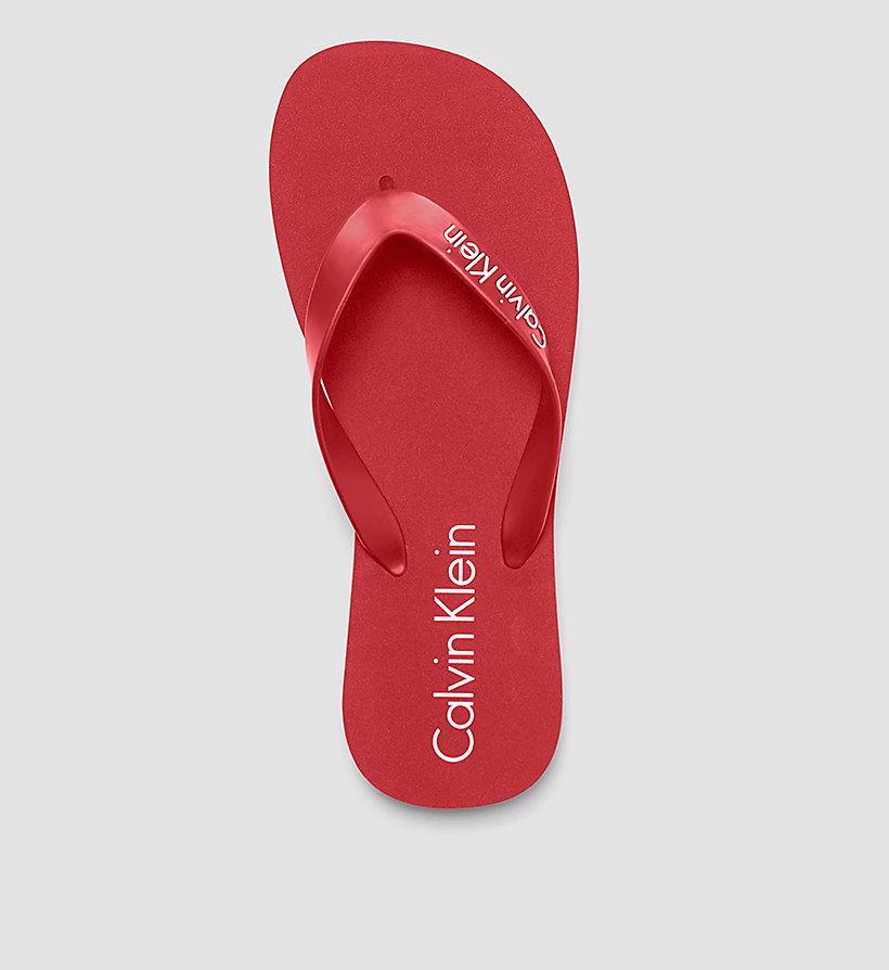CALVINKLEIN Slippers - Core Lifestyle - RACING RED - CALVIN KLEIN SHOES & ACCESSORIES - detail image 1