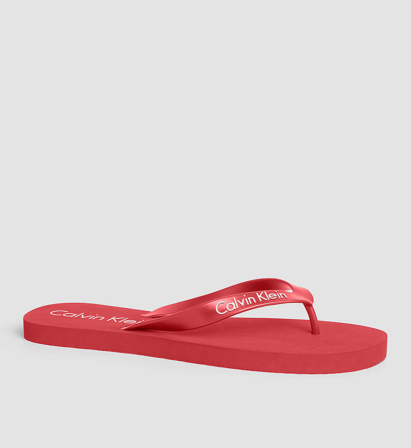 CALVINKLEIN Slippers - Core Lifestyle - RACING RED - CALVIN KLEIN SHOES & ACCESSORIES - main image