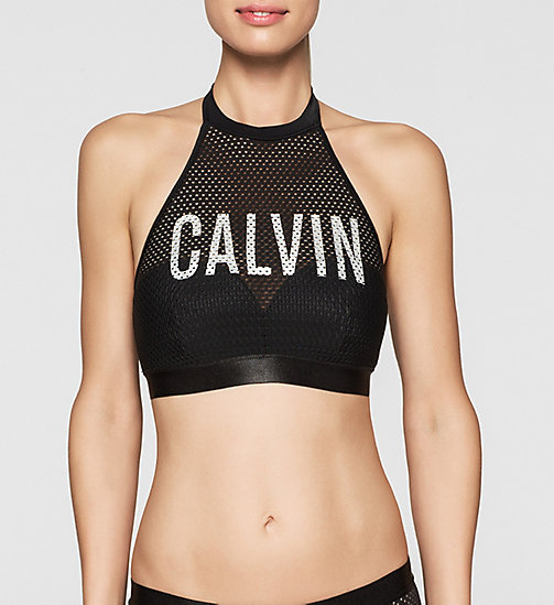 CALVINKLEIN Bralette Bikini Top - Intense Power - BLACK - CALVIN KLEIN UNDERWEAR - main image