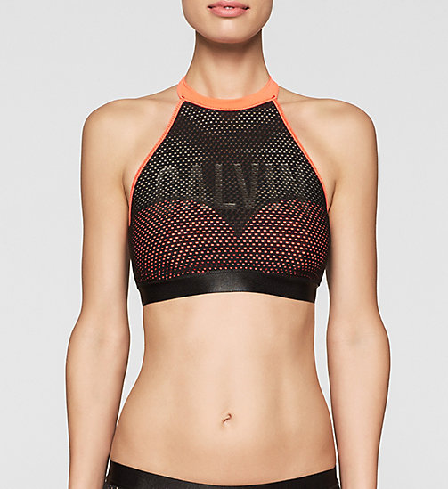 Bralette Bikini Top - Intense Power - FIERY CORAL - CALVIN KLEIN SWIMWEAR - main image