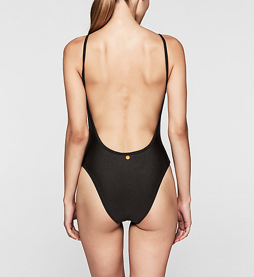 CALVINKLEIN Swimsuit - Core Placed Logo - BLACK - CALVIN KLEIN UNDERWEAR - detail image 1