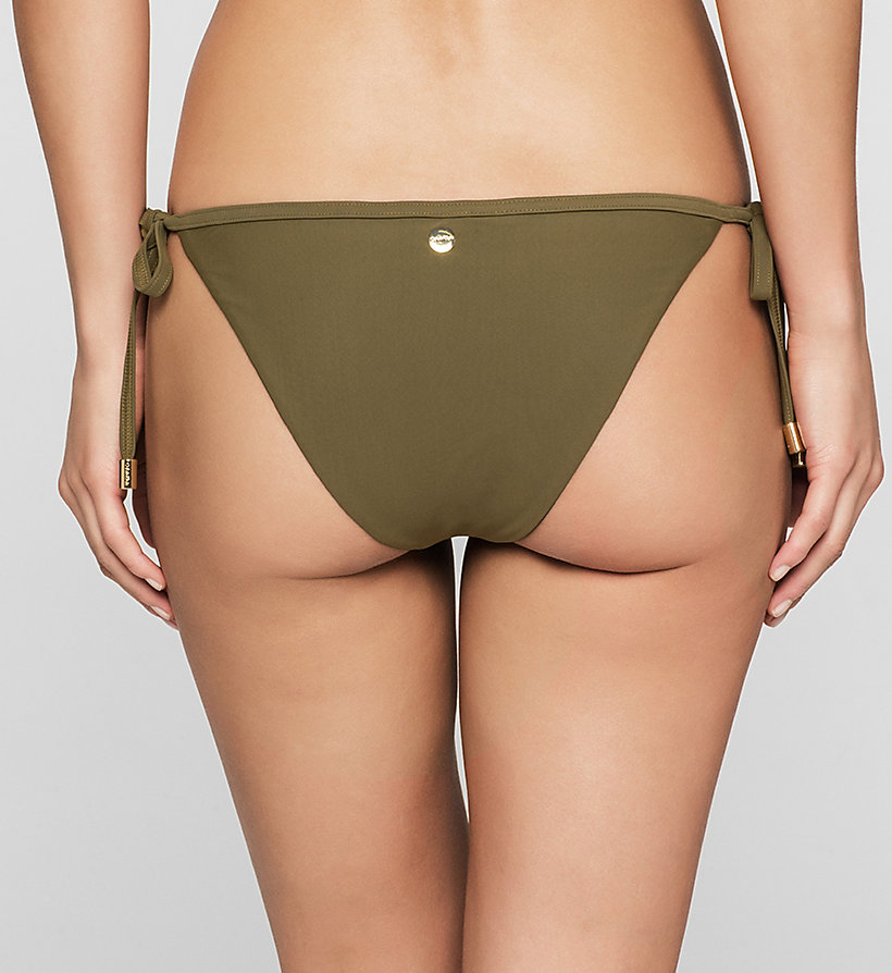CALVINKLEIN Bikini Bottom - Core Solids - MILITARY OLIVE - CALVIN KLEIN SWIMWEAR - detail image 1