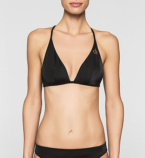 Triangle Bikini Top - CK NYC - BLACK - CALVIN KLEIN SWIMWEAR - main image