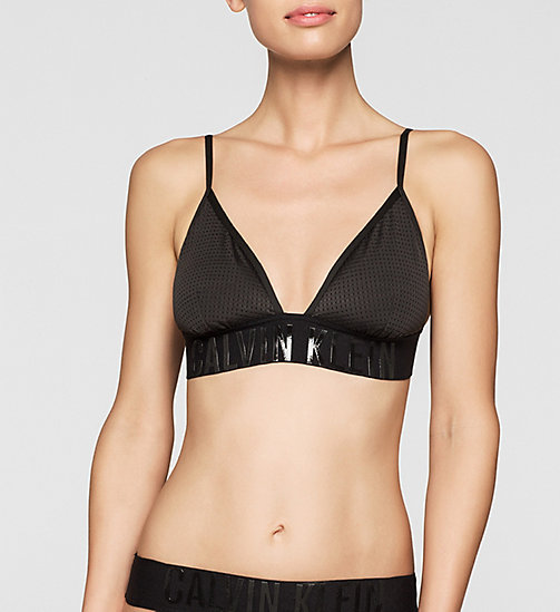 CALVINKLEIN Triangle Bikini Top - Cutting Edge Calvin - BLACK - CALVIN KLEIN SWIMWEAR - main image