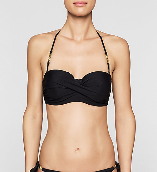 CALVINKLEIN Bandeau Bikini Top - Core Solids - BLACK - CALVIN KLEIN Up to 40% - main image