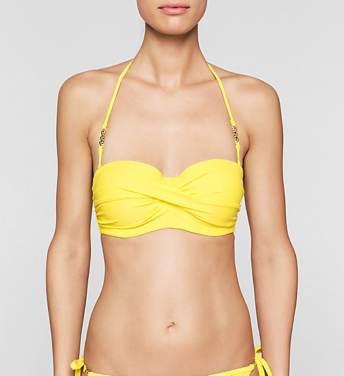 CALVINKLEIN Bandeau Bikini Top - Core Solids - BUTTERCUP - CALVIN KLEIN Up to 50% - main image