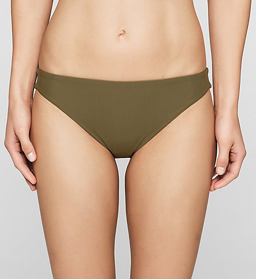 CALVINKLEIN Bikini Bottom - Core Solids - MILITARY OLIVE - CALVIN KLEIN SWIMWEAR - main image