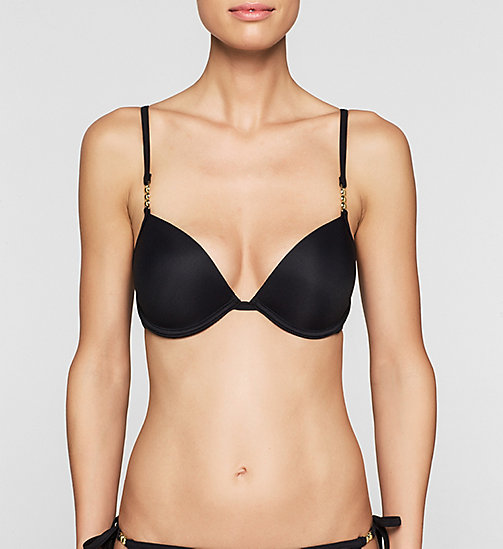 Push-Up Bikini Top - Core Solids - BLACK - CALVIN KLEIN SWIMWEAR - main image