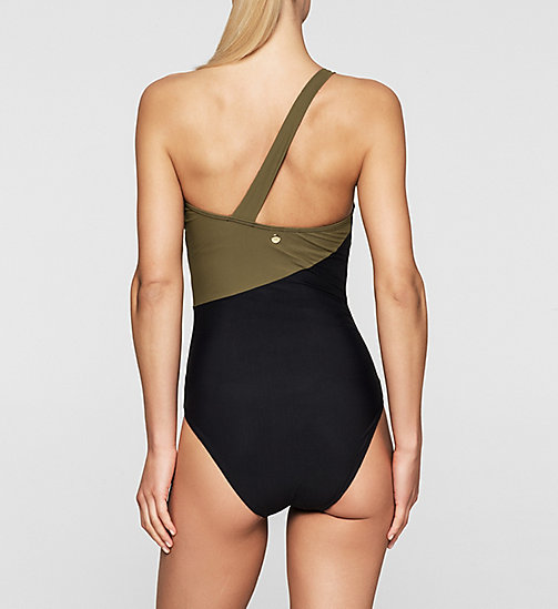 CALVINKLEIN Swimsuit - Core Color Block - BLACK/MILITARY GREEN - CALVIN KLEIN UNDERWEAR - detail image 1