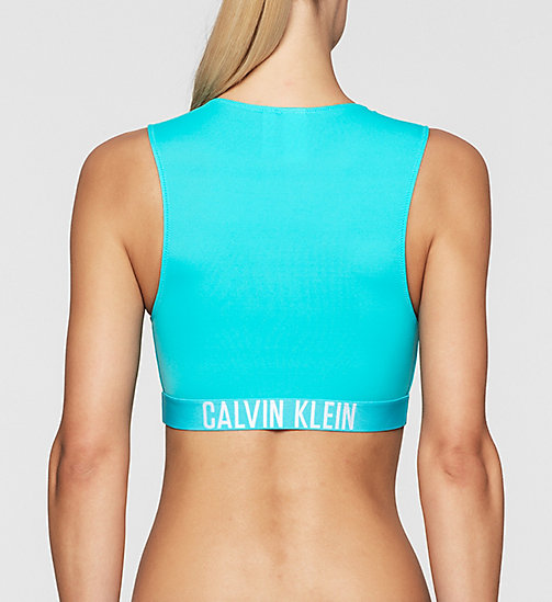 CALVINKLEIN Cropped Rash Vest - Intense Power - BLUE RADIANCE - CALVIN KLEIN Up to 50% - detail image 1