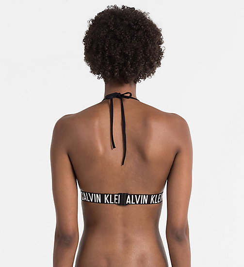CALVINKLEIN Triangle Bikini Top - Intense Power - BLACK - CALVIN KLEIN SWIMWEAR - detail image 1