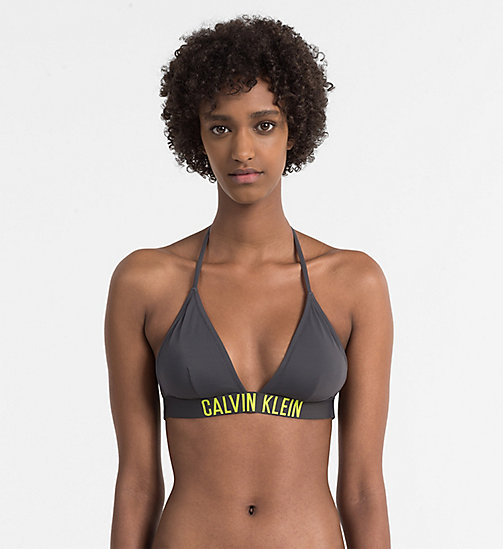 Triangle Bikini Top - Intense Power - FORGED IRON - CALVIN KLEIN SWIMWEAR - main image
