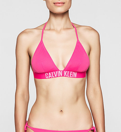 CALVINKLEIN Triangle Bikini Top - Intense Power - FUCHSIA PURPLE - CALVIN KLEIN SWIMWEAR - main image
