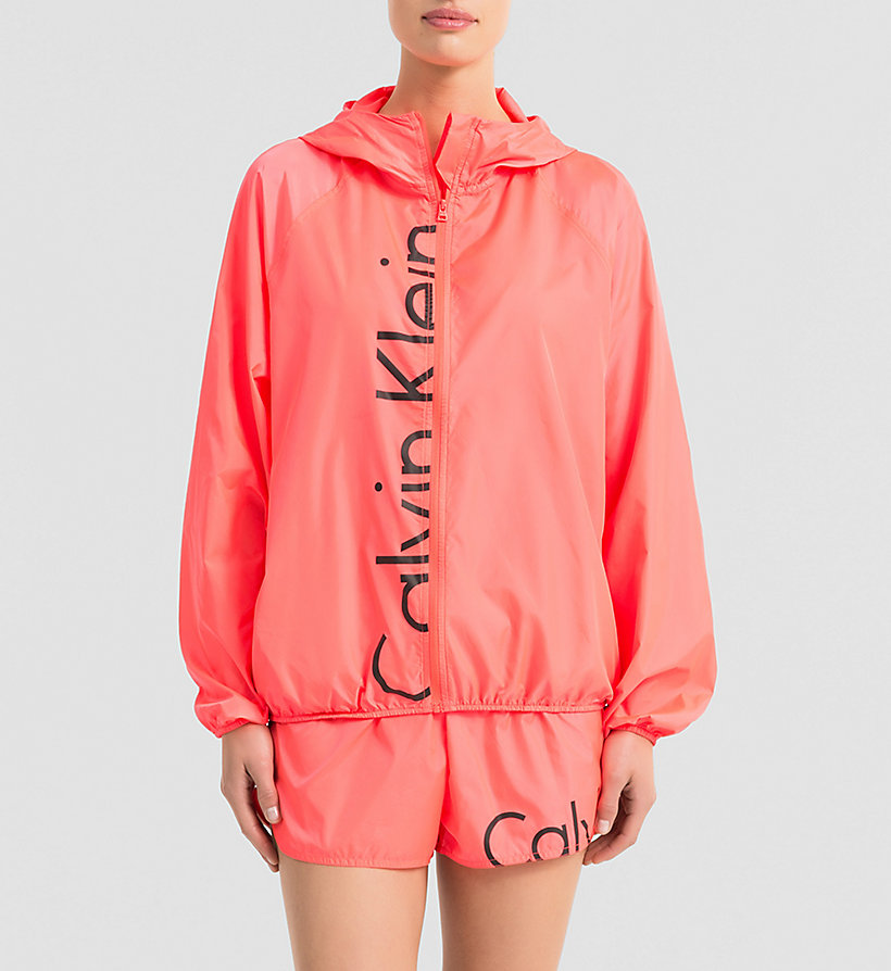 CALVINKLEIN Windbreaker - Core Placed Logo - DIVA PINK - CALVIN KLEIN JUMPERS - main image