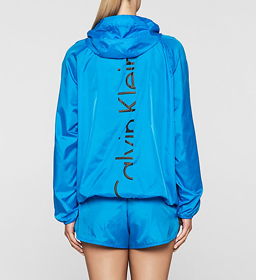 CKJEANS Windbreaker - Core Placed Logo - BLUE JEWEL - CALVIN KLEIN JUMPERS - detail image 1