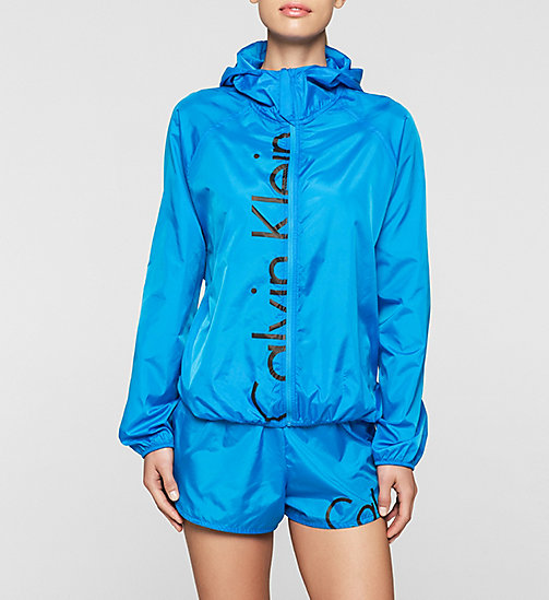 CALVINKLEIN Windbreaker - Core Placed Logo - BLUE JEWEL - CALVIN KLEIN WOMEN - main image