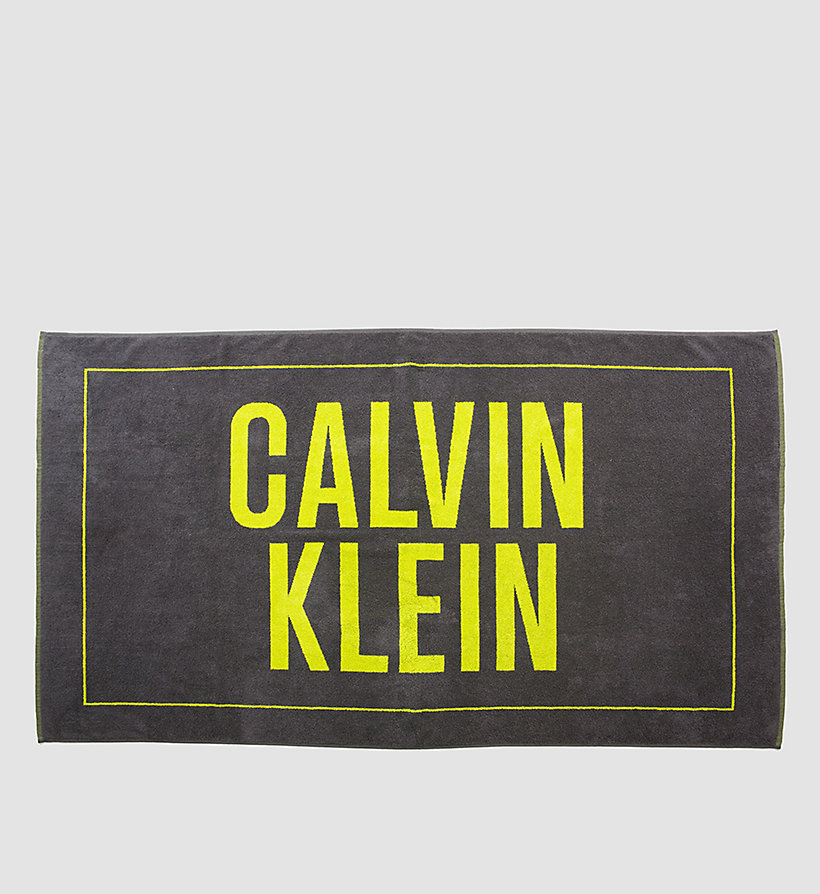 CALVINKLEIN Beach Towel - Intense Power - FORGED IRON - CALVIN KLEIN SHOES & ACCESSORIES - main image