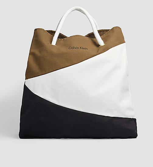 CALVINKLEIN Tote Bag - Core Lifestyle - BLACK/WHITE/OLIVE - CALVIN KLEIN SHOES & ACCESSORIES - main image