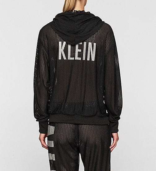 CALVINKLEIN Mesh Hoodie - Intense Power - BLACK - CALVIN KLEIN CLOTHING - detail image 1