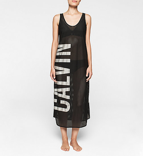 CALVINKLEIN Mesh Dress - Intense Power - BLACK - CALVIN KLEIN CLOTHING - main image