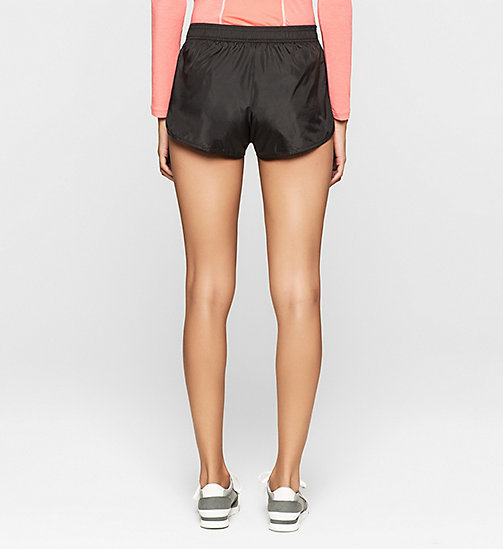 Beach Shorts - Core Placed Logo - BLACK - CALVIN KLEIN SHORTS - detail image 1