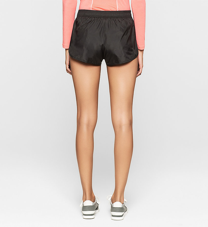 CALVINKLEIN Strand-Shorts - Core Placed Logo - BLACK - CALVIN KLEIN SHORTS - main image 1