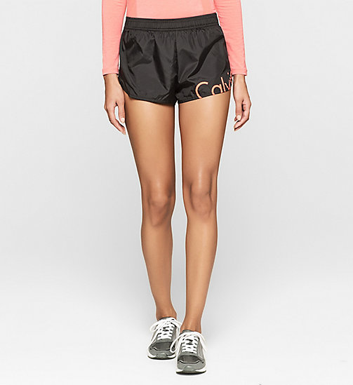 CALVINKLEIN Beach Shorts - Core Placed Logo - BLACK - CALVIN KLEIN SHORTS - main image