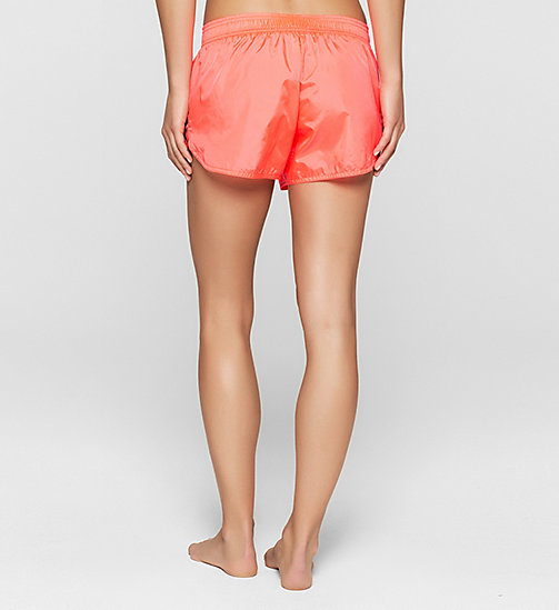 Beach Shorts - Core Placed Logo - DIVA PINK - CALVIN KLEIN SHORTS - detail image 1