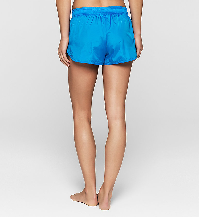 CALVINKLEIN Strand-Shorts - Core Placed Logo - BLUE JEWEL - CALVIN KLEIN SHORTS - main image 1
