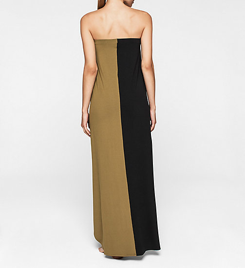 CKJEANS Bandeau Dress - Core Color Block - BLACK/MILITARY GREEN - CALVIN KLEIN DRESSES - detail image 1