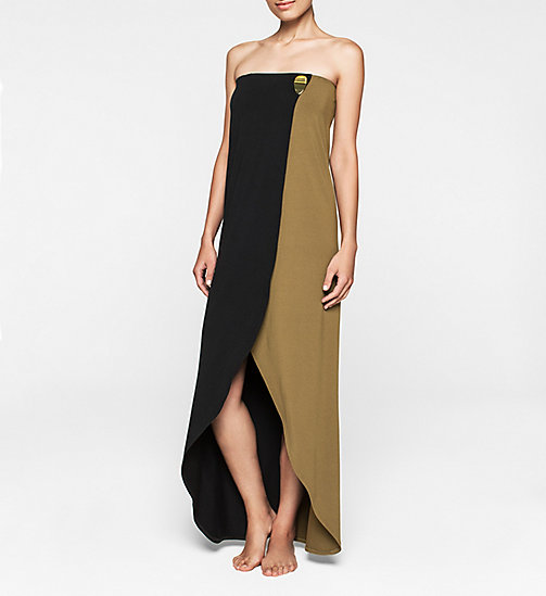 CKJEANS Bandeau Dress - Core Color Block - BLACK/MILITARY GREEN - CALVIN KLEIN DRESSES - main image