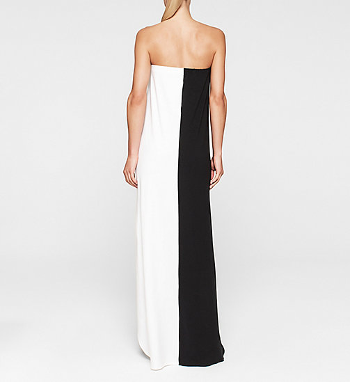 CALVINKLEIN Bandeau Dress - Core Color Block - BLACK/WHITE - CALVIN KLEIN CLOTHING - detail image 1
