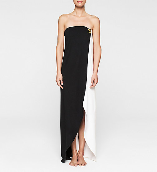 CALVINKLEIN Bandeau Dress - Core Color Block - BLACK/WHITE - CALVIN KLEIN CLOTHING - main image
