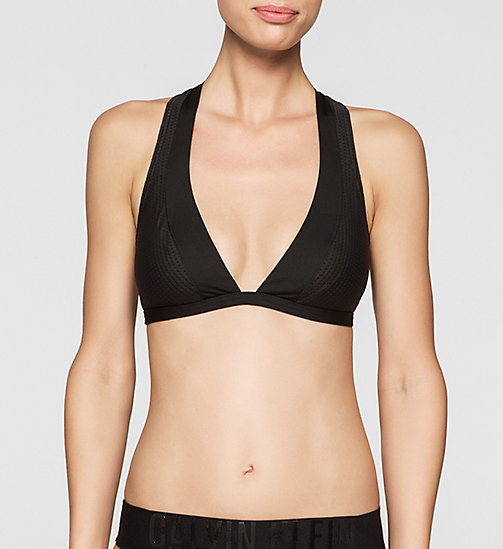Triangel-Bikini-Oberteil - Cutting Edge Calvin - BLACK - CALVIN KLEIN  - main image