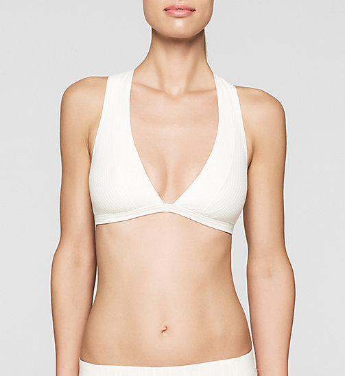 Triangle Bikini Top - Cutting Edge Calvin - SNOW WHITE - CALVIN KLEIN SWIMWEAR - main image