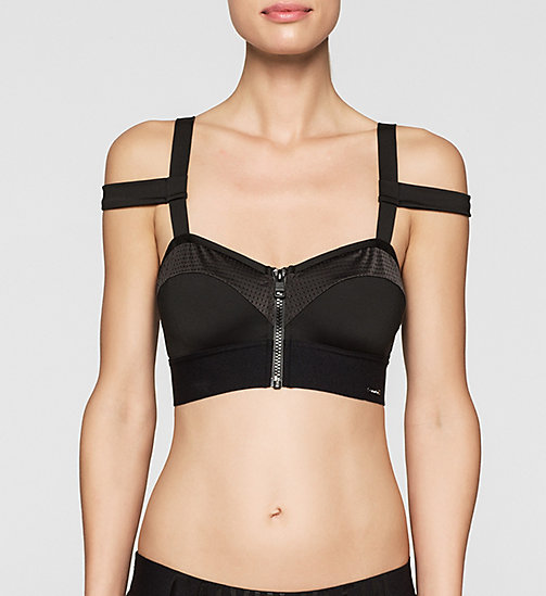 Bandeau Bikini Top - Cutting Edge Calvin - BLACK - CALVIN KLEIN SWIMWEAR - main image