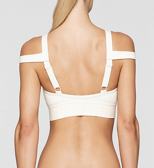 Bandeau Bikini Top - Cutting Edge Calvin - SNOW WHITE - CALVIN KLEIN SWIMWEAR - detail image 1