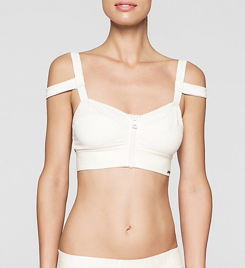Bandeau Bikini Top - Cutting Edge Calvin - SNOW WHITE - CALVIN KLEIN SWIMWEAR - main image