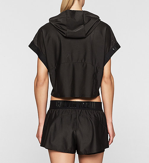 Cropped Hoodie - Cutting Edge Calvin - BLACK - CALVIN KLEIN JUMPERS - detail image 1