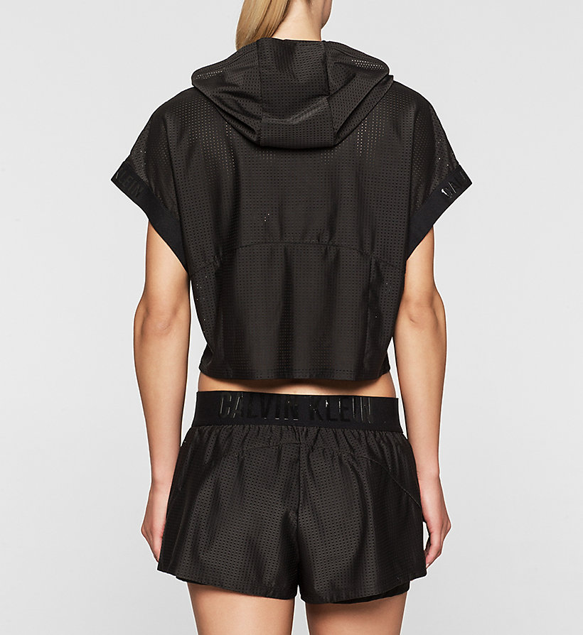 CALVINKLEIN Cropped Hoodie - Cutting Edge Calvin - BLACK - CALVIN KLEIN JUMPERS - detail image 1