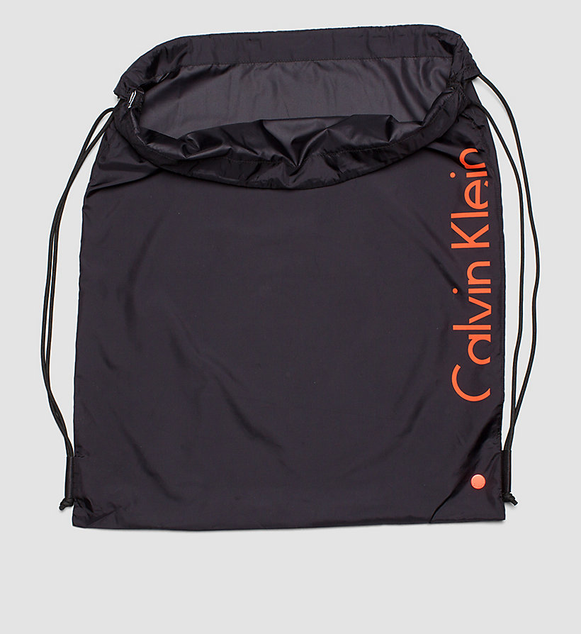 CALVINKLEIN Drawstring Bag - Core Placed Logo - BLACK - CALVIN KLEIN SHOES & ACCESSORIES - detail image 2