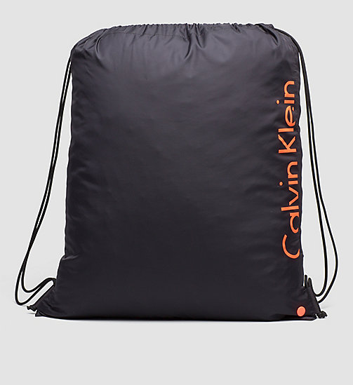 CALVINKLEIN Drawstring Bag - Core Placed Logo - BLACK - CALVIN KLEIN BAGS - main image