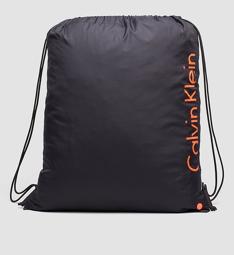 CALVINKLEIN Drawstring Bag - Core Placed Logo - BLACK - CALVIN KLEIN SHOES & ACCESSORIES - main image