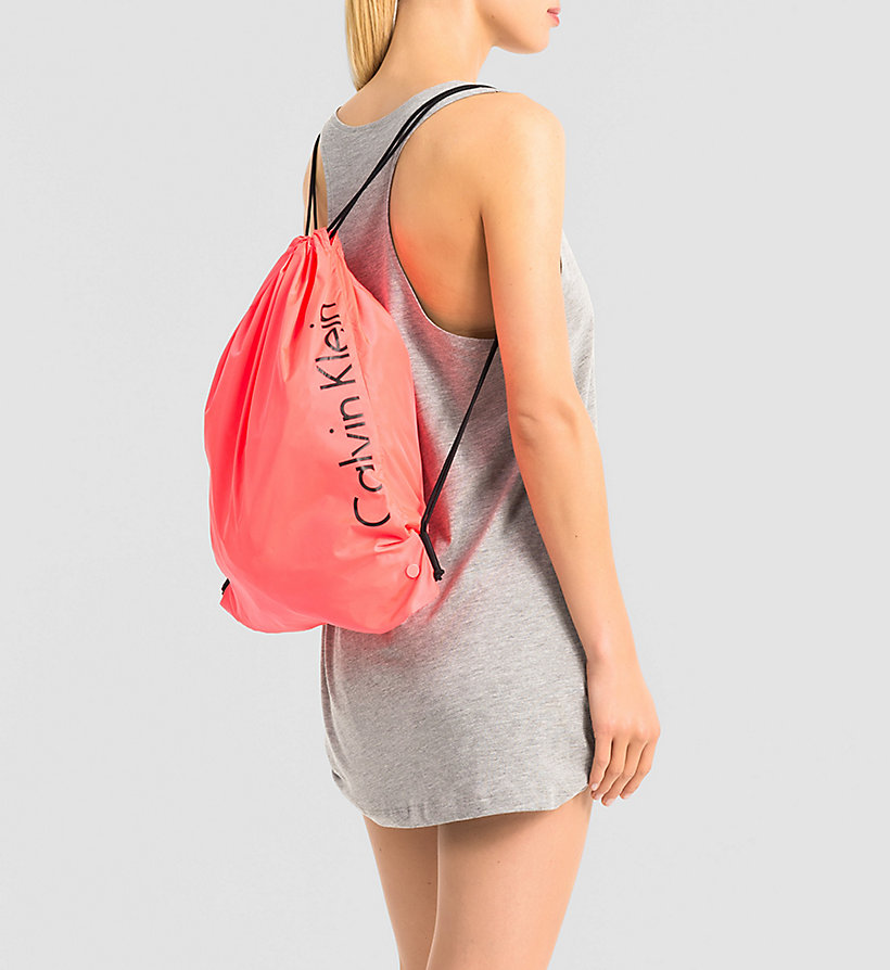 CALVINKLEIN Drawstring Bag - Core Placed Logo - DIVA PINK - CALVIN KLEIN SHOES & ACCESSORIES - detail image 1