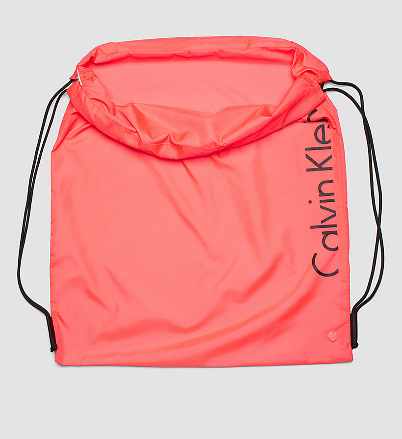 CALVINKLEIN Drawstring Bag - Core Placed Logo - DIVA PINK - CALVIN KLEIN SHOES & ACCESSORIES - detail image 2