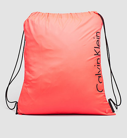 CALVIN KLEIN SWIMWEAR Drawstring Bag - Core Placed Logo KW0KW00152011