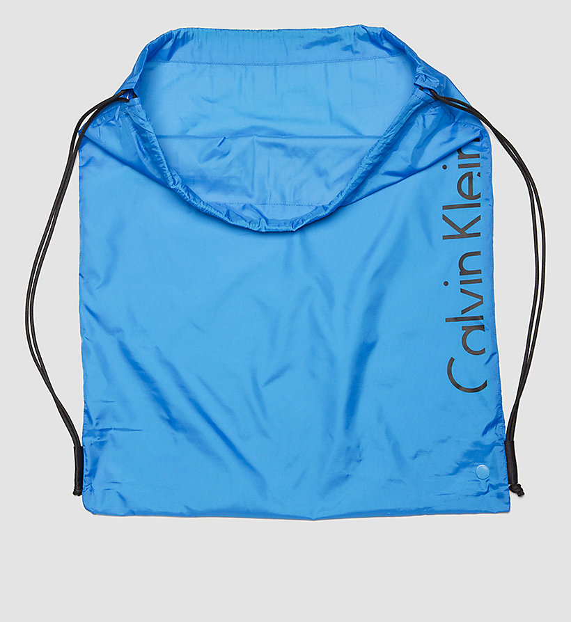 CALVINKLEIN Drawstring Bag - Core Placed Logo - BLUE JEWEL - CALVIN KLEIN SHOES & ACCESSORIES - detail image 2