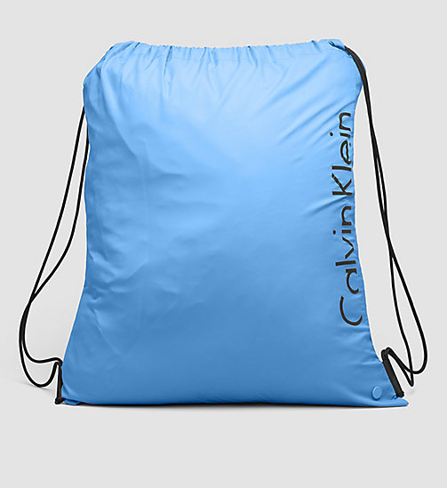 CALVINKLEIN Drawstring Bag - Core Placed Logo - BLUE JEWEL - CALVIN KLEIN SHOES & ACCESSORIES - main image